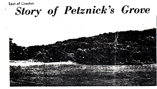 Petznick's Grove - East of Creston, Union County, Iowa - click for larger view